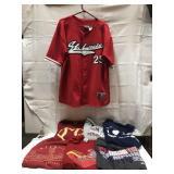 Lot of St. Louis Cardinals shirts all extra