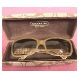 Coach Sunglasses and case-never worn