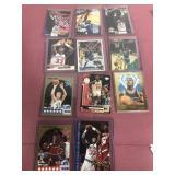 11 NBA Trading Cards-Michael Jordan, Bird, Malone