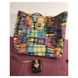 Dooney & Bourke Tote Bag Preowned and Cell Holder