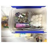 Costume jewelry & crafting items in tote