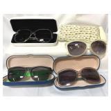 Lot of sunglasses & cases