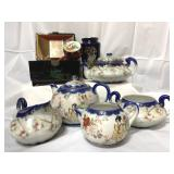 Japanese tea cups and music box and more