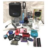 Lot of electronic phone and computer items and