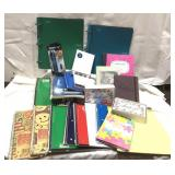 Large lot of notebooks, paper, thank you notes,