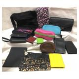 Lot of wallets, address books, make up bags,