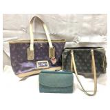 2 Dooney & Bourke purses and a wallet
