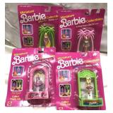 4 SEALED miniature Barbie collectibles from 1990