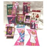 Lot of sealed Barbie items including ornaments,