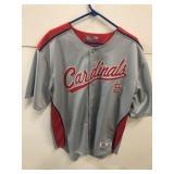 St Louis Cardinals Button-Up Jersey Size XL True