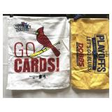 2 rally towels-St Louis Cardinals and Blues