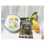 Ty beanie, decorative tin and Winnie the Pooh