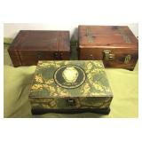 3 jewelry/Trinket Boxes