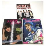 One Direction and Justin Beiber books