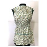 Vintage smock apron with yellow roses