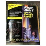 First alert steel fire escape ladder new in the