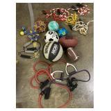 Activity lot, footballs, jump ropes and more