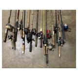 vintage rod and reel's mostly Zebco