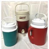 Three water jugs incl Coleman