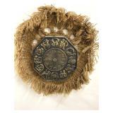 Handmade dream catcher and zodiac sign clock