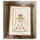Vintage embroidery sampler 29x20