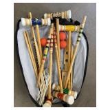 Sportscraft croquet set with clubs balls and