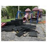 Outdoor Playground Equipment and Rubber Ground