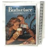 1958 framed Budweiser magazine ad
