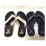 St Louis Cardinals sandals, size large