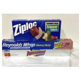 Sealed box of 40 gallon bags Ziploc, most of