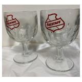 2 Falstaff Carnival Prize Beer Glasses