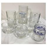 Lot of vintage bar glassware, mugs, sipping