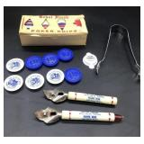 Sears Coldspot caps, Poker Chips and Openers