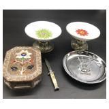 5 Items, knife, Inlay, Pincher Ashtray