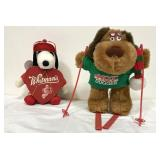 The Hot Dogger and Snoopy valentine plush
