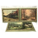 3 vintage framed pictures
