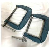 """Two 4"""" metal clamps"""