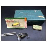 Pocket Tackle Box, Arbogast Jitterbug, Pflueger