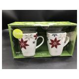 Set of 2 porcelain mugs Food network new