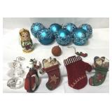 Lot of Christmas ornaments