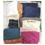 Lot of fabric and quilt blocks