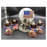 Eagle figurines and 9/11 Firefighters