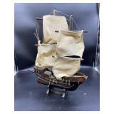 Santa Maria Wooden/Cardboard Boat 22x19