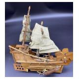 Build on your own wooden boat, half put together