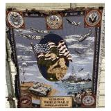 Veterans of WWII Knitted Blanket