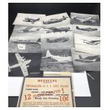 Vintage Official photographs of US Navy Planes