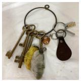 Vintage keys and keychains