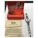 Pedre Mickey Mouse wrist watch with C O Way box