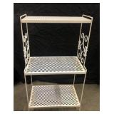 """Vintage wire rack plant stand measures 37"""" x 21"""""""