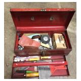 Vintage Dunlap Tool Box with contents